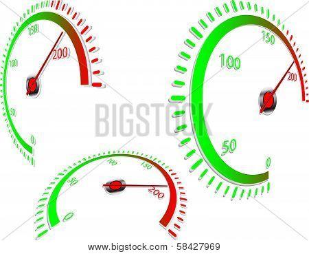 Abstract speedometer