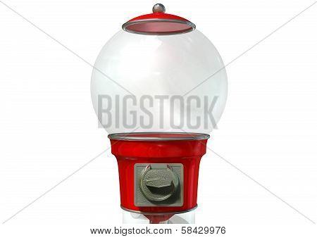 Gumball Dispensing Machine Empty