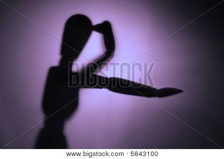 blurry silhouette of a figure in motion poster