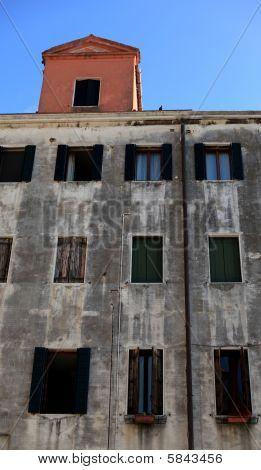 Building facade details, Venice
