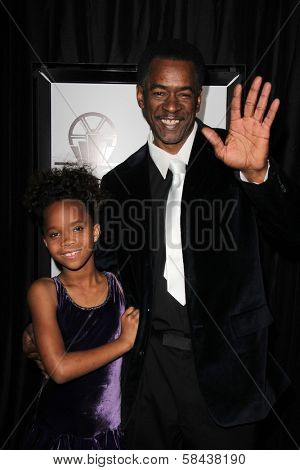 Quvenzhane Wallis, Dwight Henry at the 38th Annual Los Angeles Film Critics Association Awards, Intercontinental Hotel, Century City, CA 01-12-13