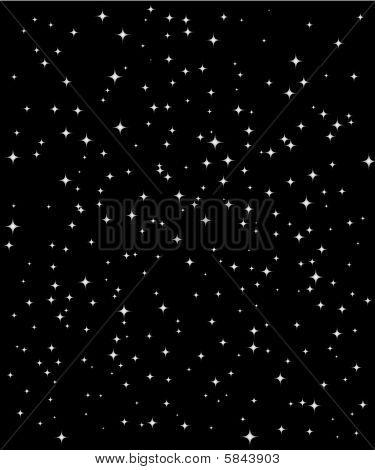 Vertical star  night sky