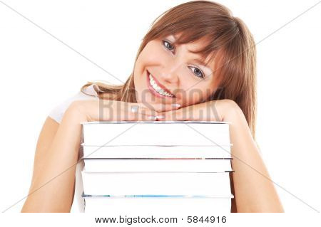 Smiling Student With Books