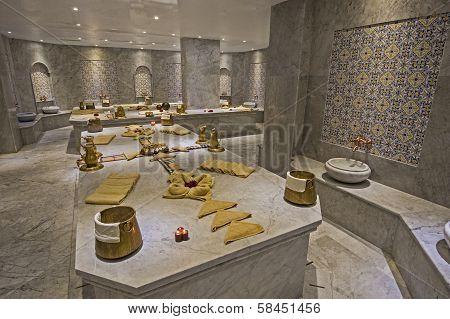 Large Turkish Bath In Health Spa