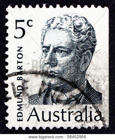 Postage Stamp Australia 1970 Sir Edmund Barton, Prime Minister
