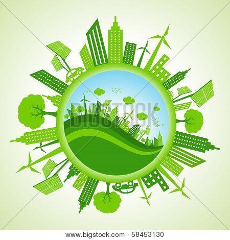 Eco cityscape stock vector