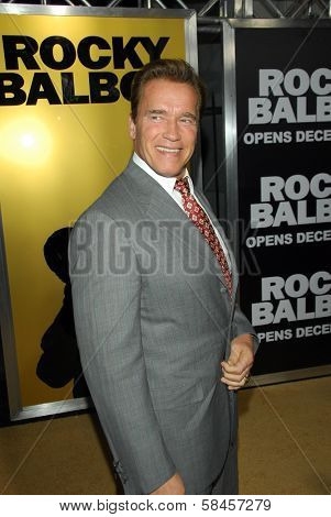 HOLLYWOOD - DECEMBER 13: Governor Arnold Schwarzenegger at the world premiere of