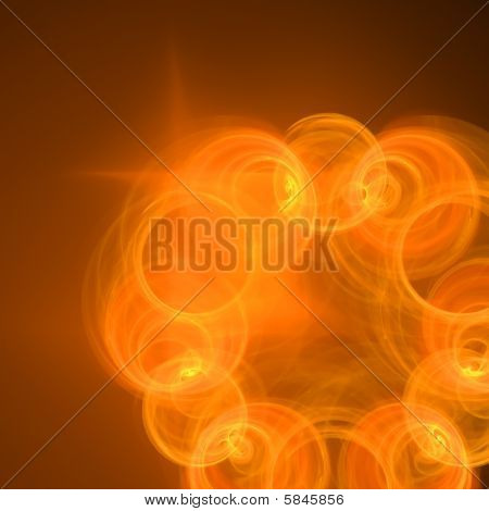Abstract elegance background. Yellow - orange palette. Raster fractal graphics. poster