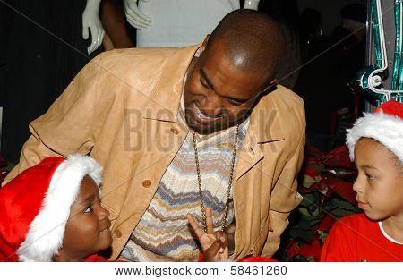 Kanye West Holiday Window Lighting to benefit the Kanye West Foundation Loop Dreams Program, Stella McCartney Boutique, Los Angeles, CA, December 5, 2006.