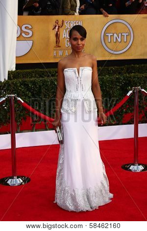 Kerry Washington at the 19th Annual Screen Actors Guild Awards Arrivals, Shrine Auditorium, Los Angeles, CA 01-27-13