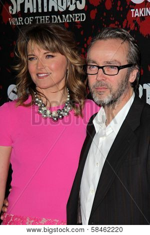 Lucy Lawless, John Hannah at the