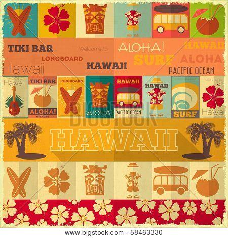 Retro Hawaii Card