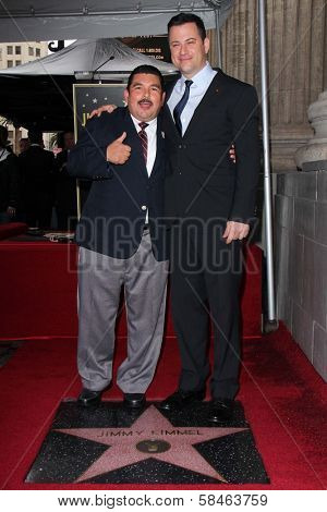 Guillermo Rodriguez, Jimmy Kimmel at Jimmy Kimmel's induction into the Hollywood Walk of Fame, Hollywood, CA 01-25-13