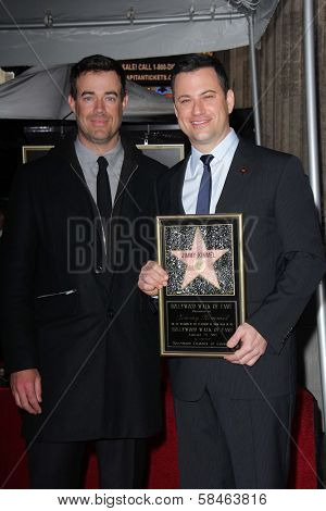 Carson Daly, Jimmy Kimmel at Jimmy Kimmel's induction into the Hollywood Walk of Fame, Hollywood, CA 01-25-13