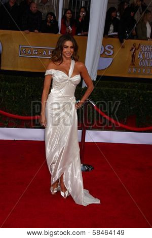 Sofia Vergara at the 19th Annual Screen Actors Guild Awards Arrivals, Shrine Auditorium, Los Angeles, CA 01-27-13