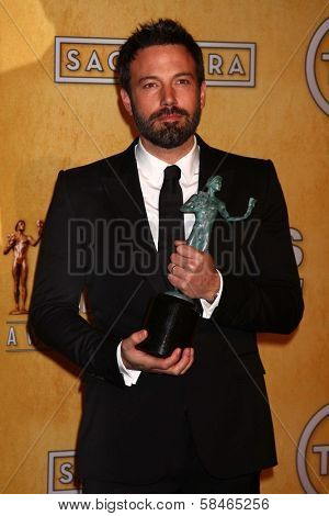 Ben Affleck at the 19th Annual Screen Actors Guild Awards Press Room, Shrine Auditorium, Los Angeles, CA 01-27-13