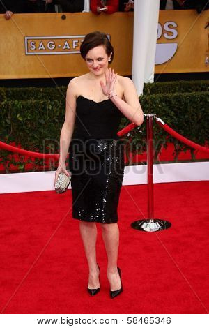 Elisabeth Moss at the 19th Annual Screen Actors Guild Awards Arrivals, Shrine Auditorium, Los Angeles, CA 01-27-13