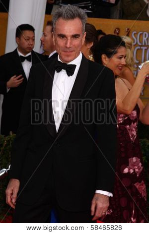 Daniel Day-Lewis at the 19th Annual Screen Actors Guild Awards Arrivals, Shrine Auditorium, Los Angeles, CA 01-27-13