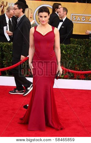 Idina Menzel at the 19th Annual Screen Actors Guild Awards Arrivals, Shrine Auditorium, Los Angeles, CA 01-27-13