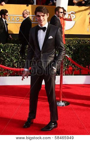 RJ Mitte at the 19th Annual Screen Actors Guild Awards Arrivals, Shrine Auditorium, Los Angeles, CA 01-27-13