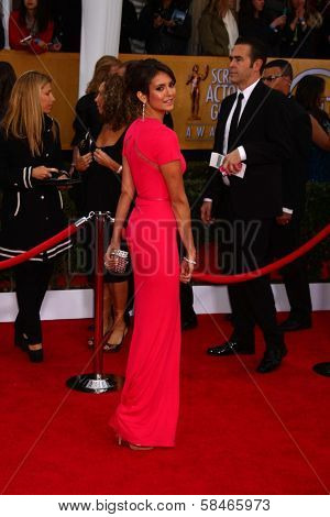 Nina Dobrev at the 19th Annual Screen Actors Guild Awards Arrivals, Shrine Auditorium, Los Angeles, CA 01-27-13