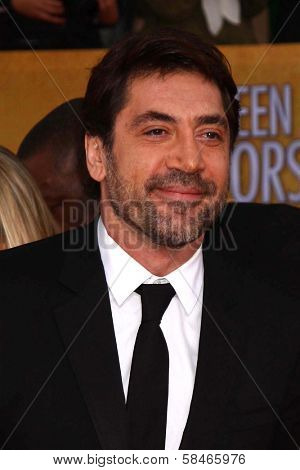 Javier Bardem at the 19th Annual Screen Actors Guild Awards Arrivals, Shrine Auditorium, Los Angeles, CA 01-27-13