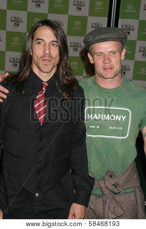 LOS ANGELES - NOVEMBER 08: Anthony Kiedis and Flea at the 16th Annual Environmental Media Association Awards at Wilshire Ebell Theatre November 08, 2006 in Los Angeles