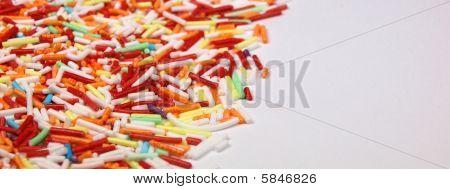 Sweet granules background
