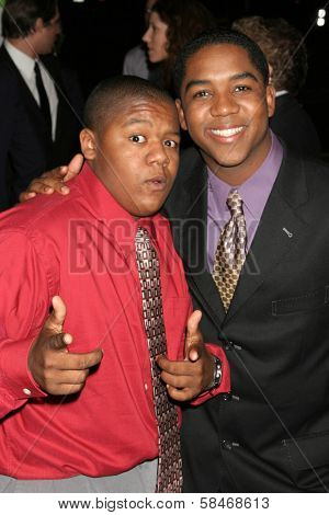 LOS ANGELES - NOVEMBER 08: Kyle Massey and Christopher Massey at the 16th Annual Environmental Media Association Awards at Wilshire Ebell Theatre November 08, 2006 in Los Angeles