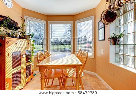 Beautiful Sunny Angled Dining Room
