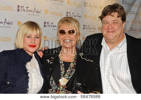 Patricia Arquette, Roseanne Barr and John Goodman  at The Trevor Project's