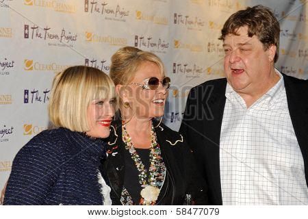 Patricia Arquette with Roseanne Barr and John Goodman at The Trevor Project's