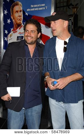 HOLLYWOOD - JULY 26: Brett Ratner and Bruce Willis at the Premiere Of