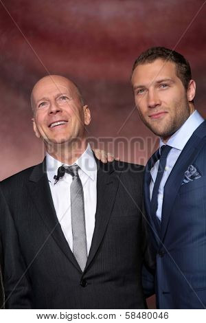 Bruce Willis, Jai Courtney at the