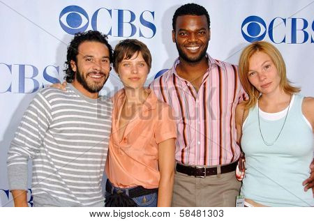 PASADENA - JULY 15: Michael Irby, Audrey Marie Anderson, Demore Barnes and Abby Brammell at CBS's TCA Press Tour at The Rose Bowl on July 15, 2006 in Pasadena, CA.