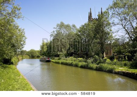 Canal And Church