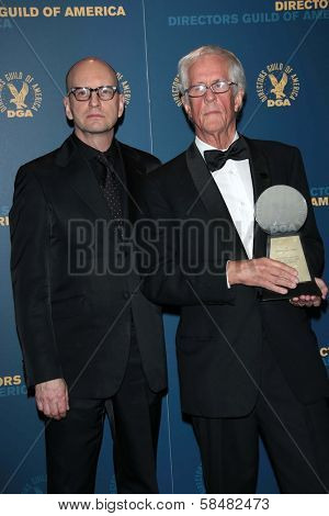 Steven Soderbergh, Michael Apted at the 65th Annual Directors Guild Of America Awards Press Room, Dolby Theater, Hollywood, CA 02-02-13