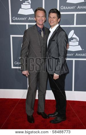Neil Patrick Harris, David Burtka at the 55th Annual GRAMMY Awards, Staples Center, Los Angeles, CA 02-10-13