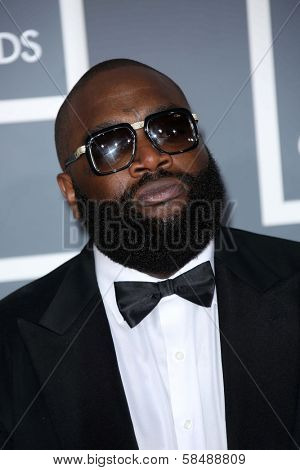 Rick Ross at the 55th Annual GRAMMY Awards, Staples Center, Los Angeles, CA 02-10-13