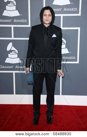 Jack White at the 55th Annual GRAMMY Awards, Staples Center, Los Angeles, CA 02-10-13