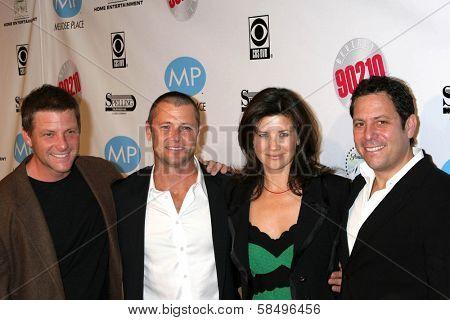 BEVERLY HILLS - NOVEMBER 03: Doug Savant, Grant Show, Daphne Zuniga, Darren Star at the