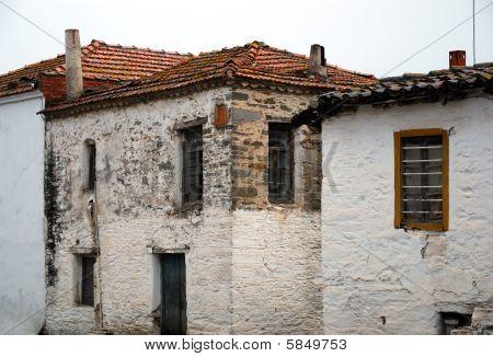 old house in a greek village, Halkidiki, Greece