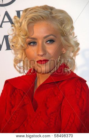 LOS ANGELES - SEPTEMBER 19: Christina Aguilera at the album release party for Justin Timberlake's new album