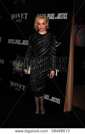 Rose McGowan at the 6th Annual Hollywood Domino Pre-Oscar Gala & Tournament, Sunset Tower, West Hollywood, C A 02-21-13