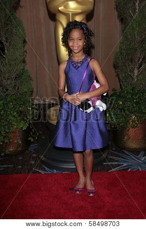 Quvenzhane Wallis at the 85th Academy Awards Nominations Luncheon, Beverly Hilton, Beverly Hills, CA 02-04-13