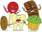 Tooth Enemies. Available in vector eps 8 file poster