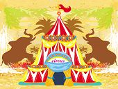 abstract circus on a grunge background , vector illustration poster