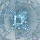 Abstract elegance background. Blue - white palette. Raster fractal graphics. poster