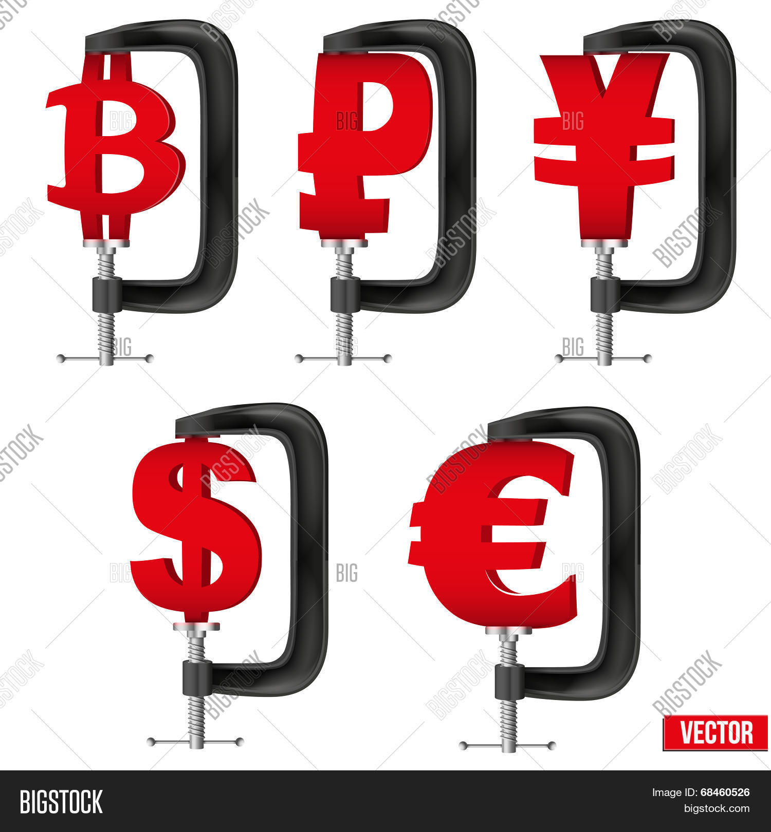 Set Currency Symbols Vector Photo Free Trial Bigstock