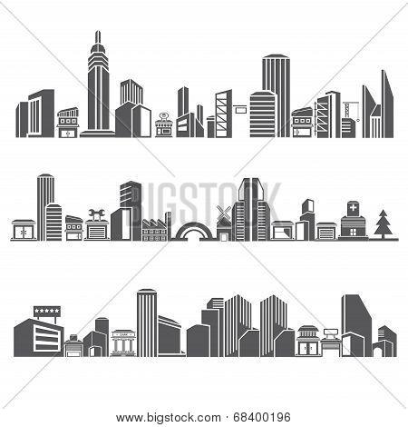 cities silhouette, city skyline